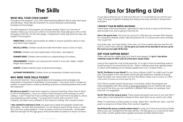 Start Up Guide for Playing Preschool