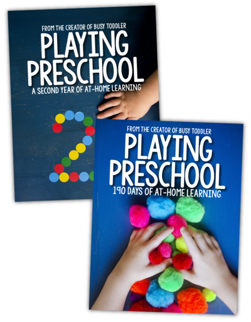 PLAYING PRESCHOOL BUNDLE: Get both years of the Playing Preschool Program from Busy Toddler